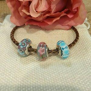 Pandora Set of 3 Murano Beads